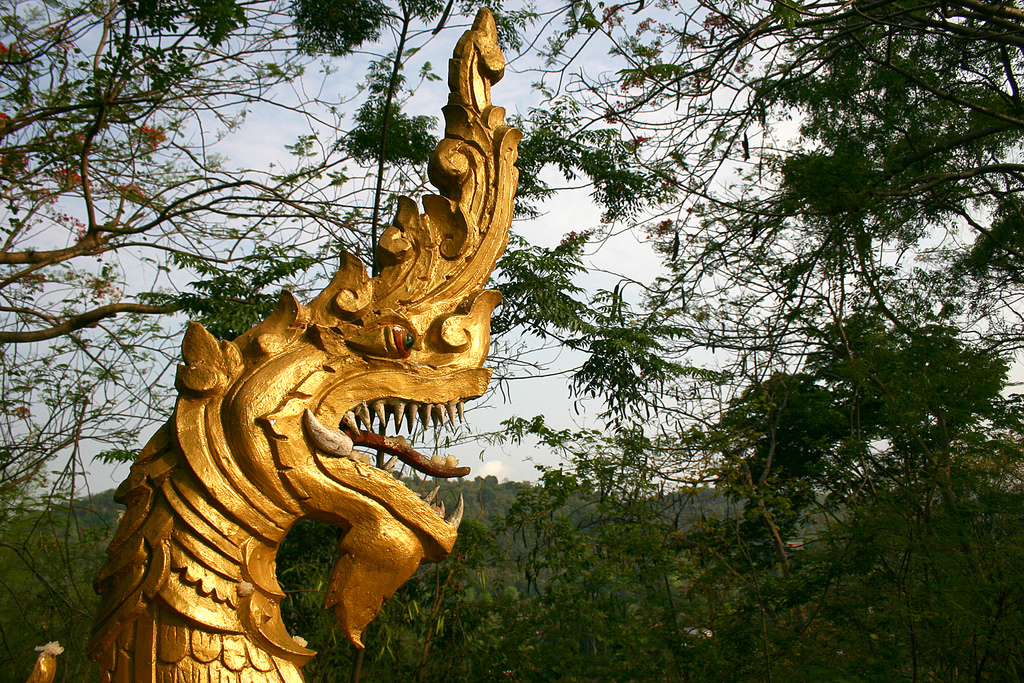 A typical 'Naga' monster as seen in most Thai temples