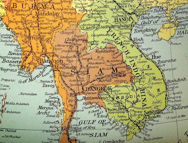 Map of Siam 1950