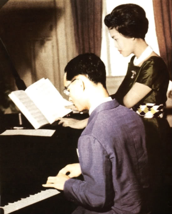 The King Of Thailand playing the Piano