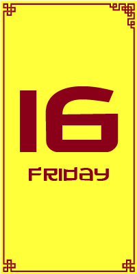 Friday 16th