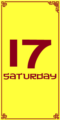 Saturday 17th