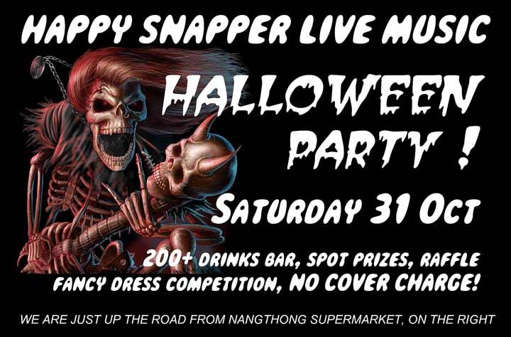 Halloween @ Happy Snapper Khao Lak