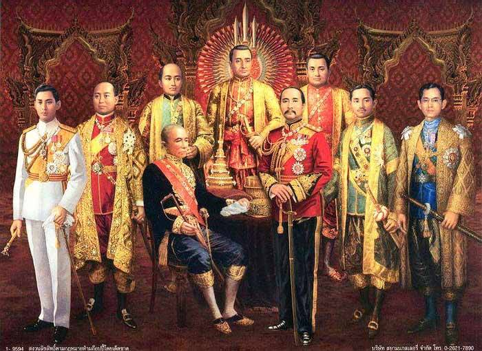 The nine kings of the Chakri Dynasty, Thailand