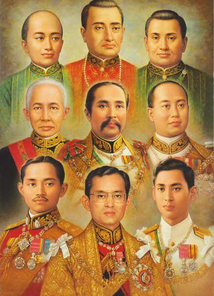 The nine kings of Thailand's Chakri Dynasty commemorated on Chakri Day