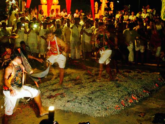 Firewalking during the vegetarian festival