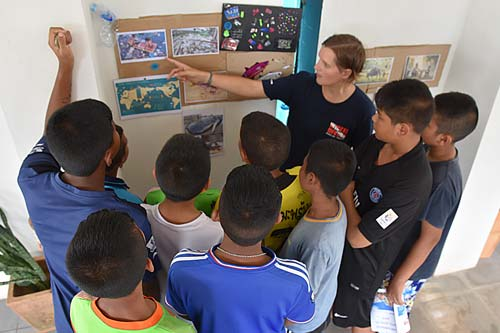 Microplastic in the ocean lesson for Thai school children