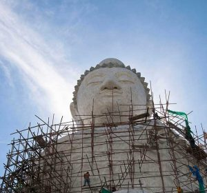 Thai construction of the Big Buddha in Phuket