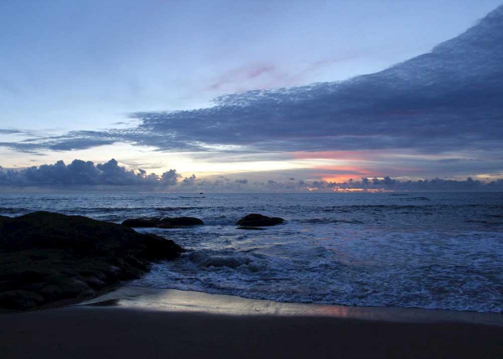 Sun set clouds in Khao Lak