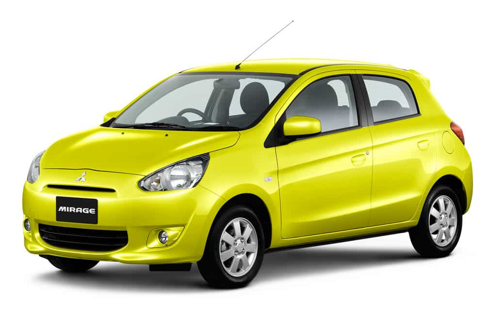 Mitsubishi Mirage to rent in Khao Lak