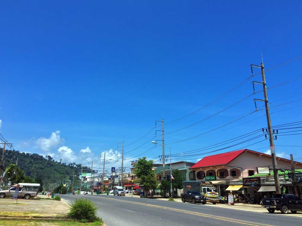 Clear blue skies over Khao Lak