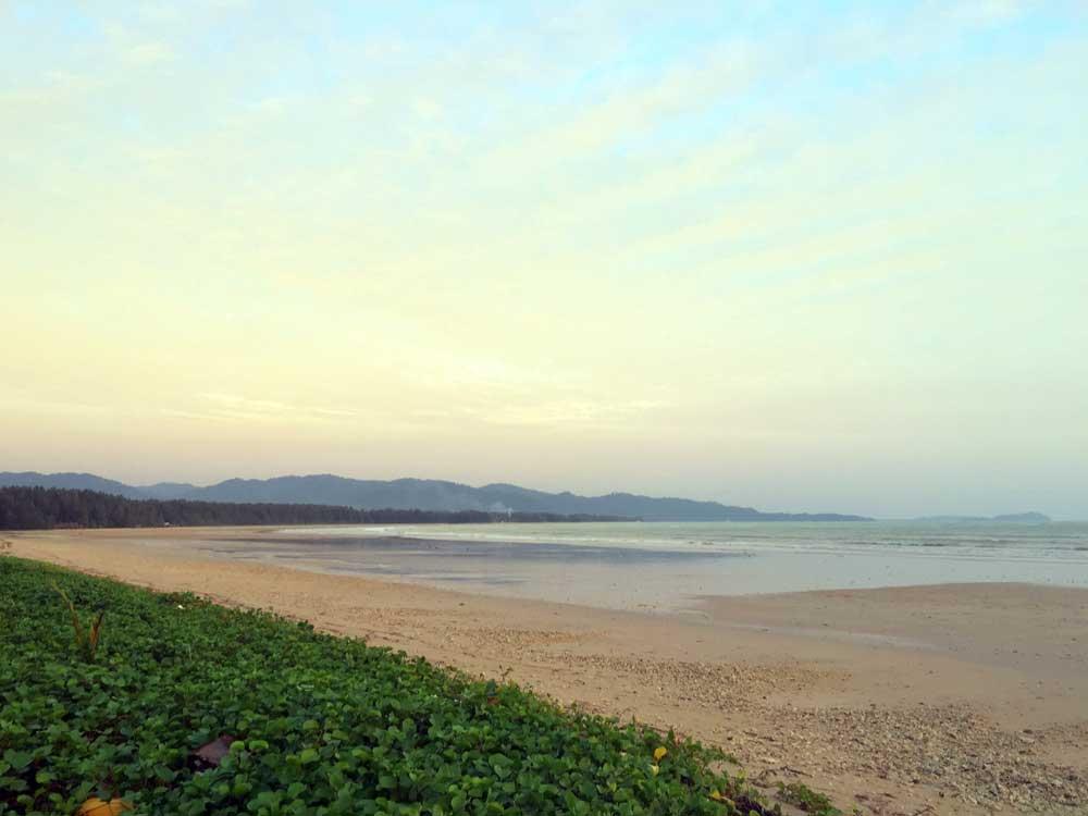 Hazy skies out to sea at Khao Lak