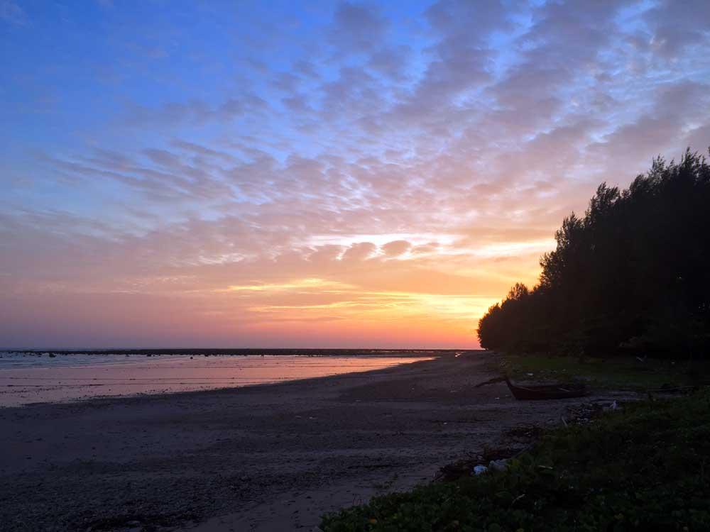 Cloud cover at sun set over Pakarang near Khao Lak